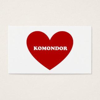Komondor Visitkort
