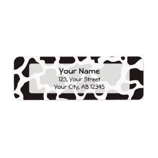 Komönsterbakgrund Returadress Etikett