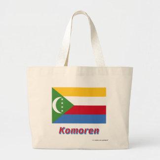Komoren Flagge mit Namen Kassar