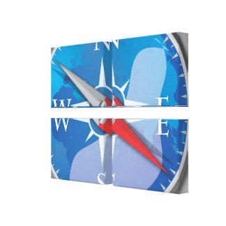 Kompass Canvastryck