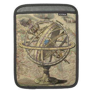 Kompass och karta för vintage nautisk iPad sleeve