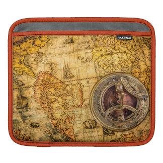 Kompass- och kartaiPad vadderar vågrät iPad Sleeve