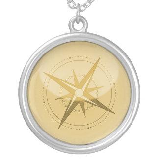 Kompass Silverpläterat Halsband