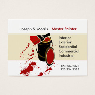 Kompetent husmålning för modern konstnär visitkort