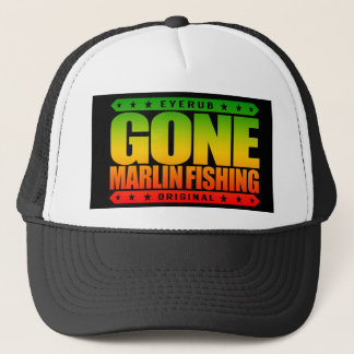 Kompetent och stolt fiskare för BORTA MARLINFISKE Truckerkeps