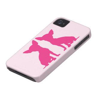 Kompis för fodral för blackberry bold för rosa iPhone 4 Case-Mate fodral