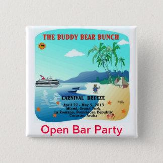 Kompisbjörnar öppnar pubpartyet standard kanpp fyrkantig 5.1 cm