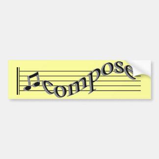 Komponera musik bildekal