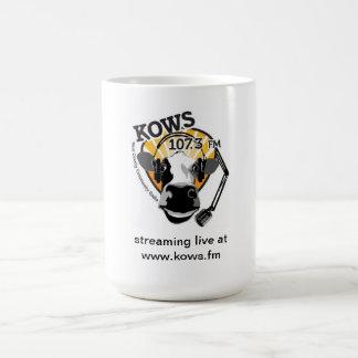 kon med mikrofonen, KOWS radiosände Kaffemugg
