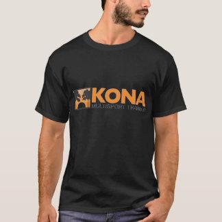 Kona svart w/orange logotyp (bekläda), t shirts