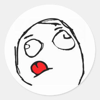 Koncentrera ursinneansikte runt klistermärke