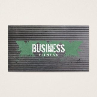 Kondition för grafitti för Grungemetallrandar grön Visitkort