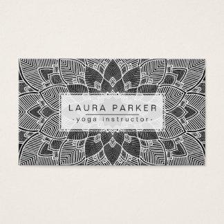 Kondition för vit för svart för instruktör för visitkort