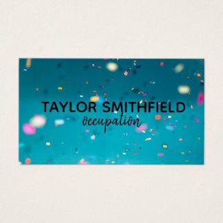 konfettiar färgar den geometriska visitkort