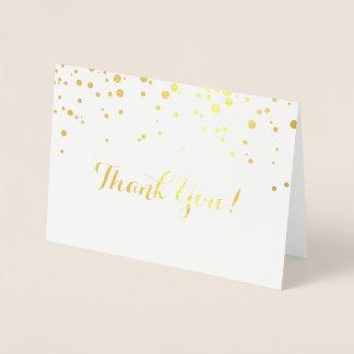 Konfettiar omkullkastar tackar dig att card folierat kort