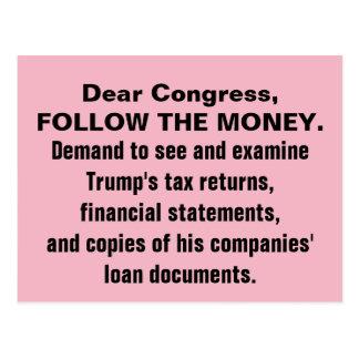 Kongressen följer pengartrumfsjälvdeklarationerna vykort