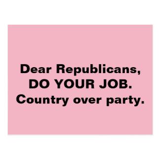 Kongressen gör ditt jobbland över partyrosor vykort