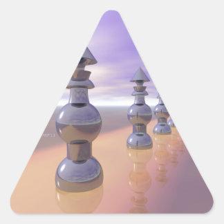 Konisk geometrisk talföljd triangelformat klistermärke