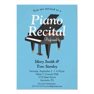 Konsert för musik för pianohögläsninginbjudan 12,7 x 17,8 cm inbjudningskort
