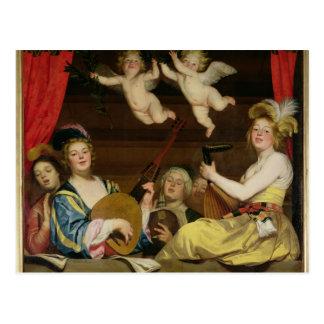 Konserten, 1624 vykort