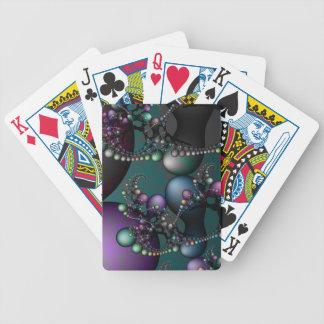 Konst av Math som leker kort Spelkort
