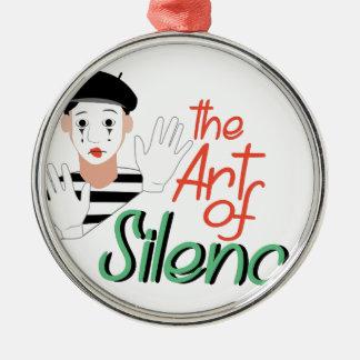 Konst av tystnad julgransprydnad metall
