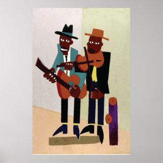 Konst för amerikan för vintage för gatamusiker~ affischer