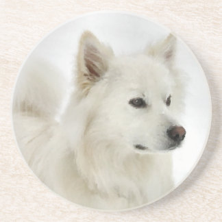 Konst för amerikaneskimåhund underlägg sandsten