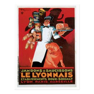 Konst för annons för grisGris Skinka Le Lyonnais Vykort