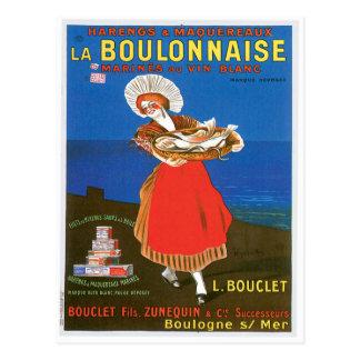 Konst för annons för mat för vintage för vykort