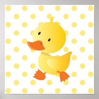 Konst för barnkammare för babyanka gullig poster