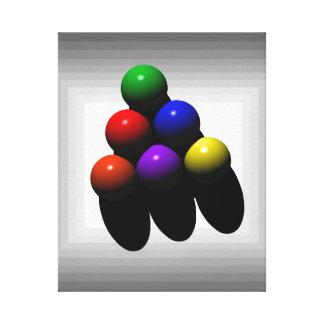 konst för biljard 6-Ball Canvastryck