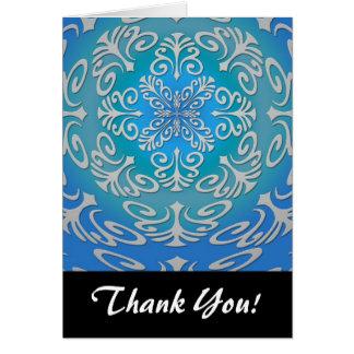 Konst för blåttgröntabstrakt OBS kort