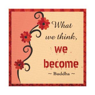 Konst för blommigt för tankar för Buddha Canvastryck