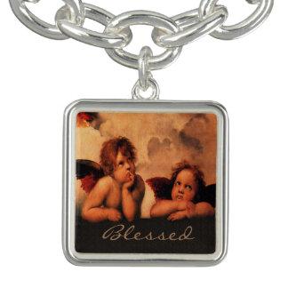 Konst för Cherubs för personligklassiker änglalik Berlockarmband
