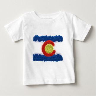 Konst för Colorado flaggasand Tee Shirts