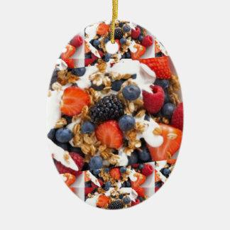 Konst för cuisine för äta för kock för julgransprydnad keramik