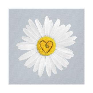 Konst för daisyblommakärlek skräddarsy bakgrund canvastryck