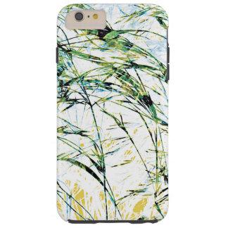 Konst för design för grodd för blomma för tough iPhone 6 plus skal