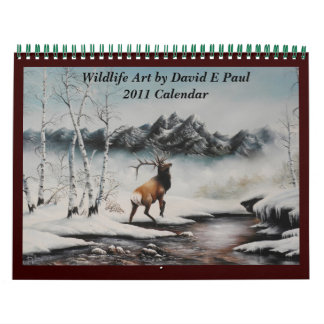 Konst för djurlivkonstkalender av David Paul Kalender
