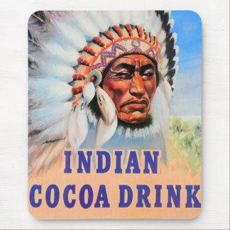 Konst för drink för kakao för Retro hötorgskonst Mus Mattor