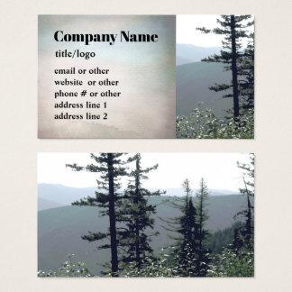 konst för foto för visitkortar för berggrästräd visitkort