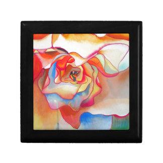 Konst för Fred martin begoniaakvarell Smyckeskrin