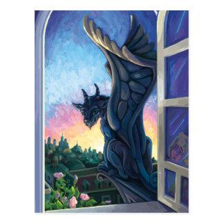 Konst för Gargoyleförmyndarefantasi Vykort