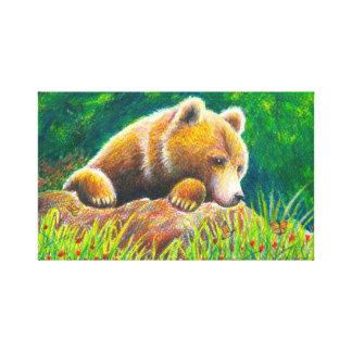 Konst för Grizzlybjörnnatur Canvastryck
