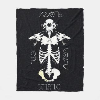 Konst för Grunge för Skully skalleWerewolf stam- Fleecefilt