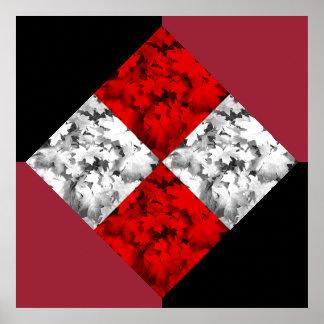 Konst för hösthöst lövpop poster