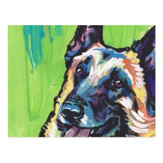 Konst för hund för belgareMalinois ljus färgrik Vykort