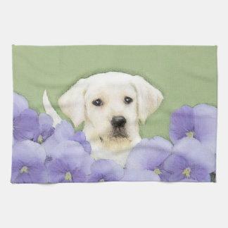 Konst för hund för målning för valp för Labrador Kökshandduk