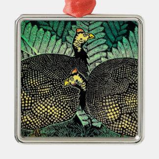 Konst för japan för löv för fågel för Guinea Julgransprydnad Metall